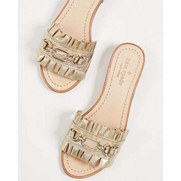 5ef80a05e1db Kate Spade New York Gold Metallic Sandals Size 8